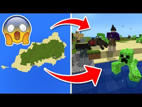 Do NOT Spawn on This ISLAND in Minecraft Pocket Edition (Mutant Mobs Addon)