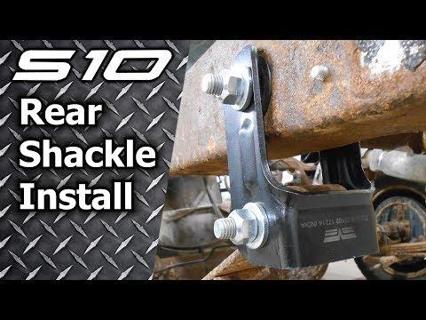 S10 Sonoma Blazer Rear Shackle Install