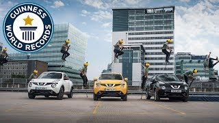 Jumping cars with a pogo stick - Guinness World Records