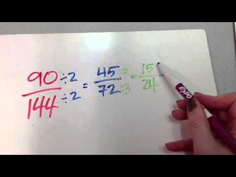 Tips for reducing fractions with large numbers