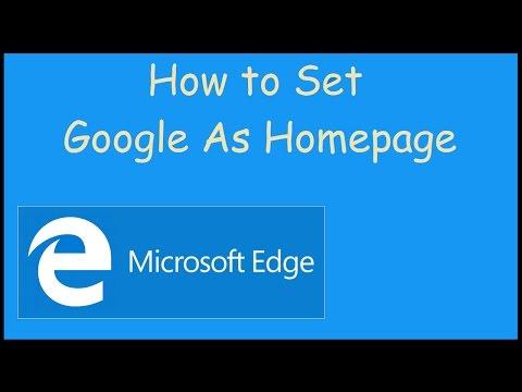 How to set Google as homepage on Microsoft Edge