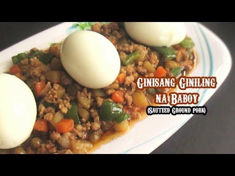 Ginisang Giniling Na Baboy With Egg (Sauteed Ground Pork  With Egg)