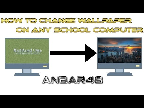 ✔️How to change any school computer wallpaper, works 100%✔️