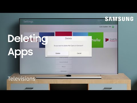 Delete Apps from Smart Hub on your TV