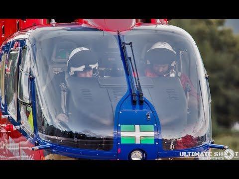 Devon Air Ambulance Trust take off - Derriford Hospital