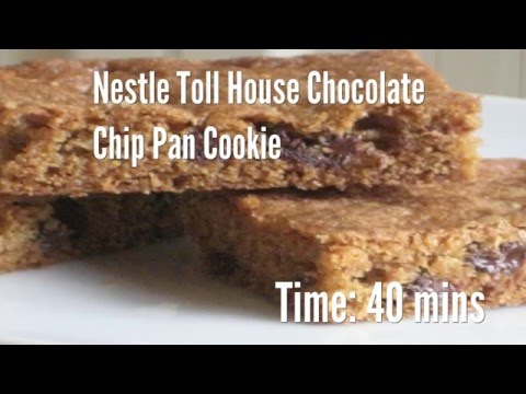 Nestle Toll House Chocolate Chip Pan Cookie Recipe