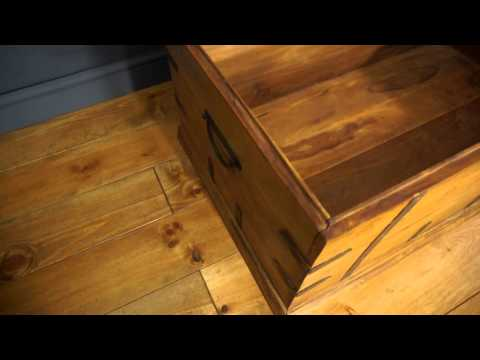 Large Solid Wooden Chest Trunk Blanket Box