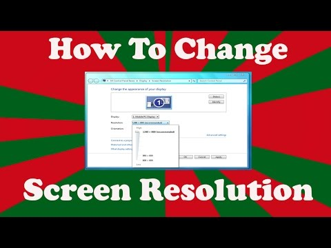 How to Change Screen Resolution in Windows 7
