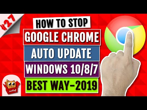 How to Disable/Turn Off/Stop Google Chrome Auto Update - Windows 10/8/7/Vista