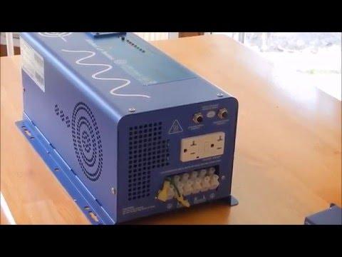 Aims 3000 watt 24v Inverter Part1 Convert 12v to 24v. Battery Bank.