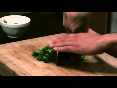 Strip and Chop Cilantro