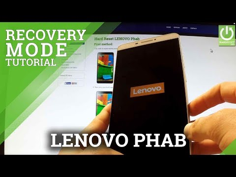 How to Enter Recovery Mode LENOVO Phab - Recovery Mode Tutorial