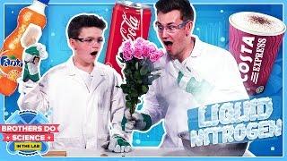 LIQUID NITROGEN VS DRINKS   Brothers Do Science: In The Lab