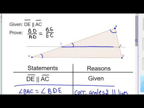 Side Splitter Theorem Uses and Proof how