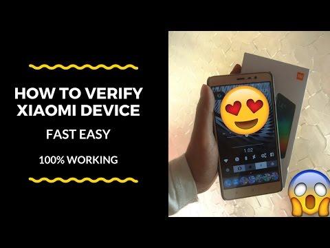 How to verify MI/Xiaomi phone.