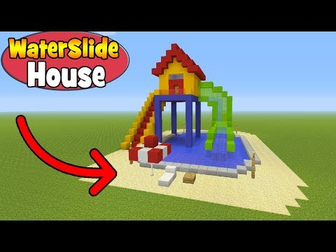 Minecraft Tutorial: How To Make A Waterslide House