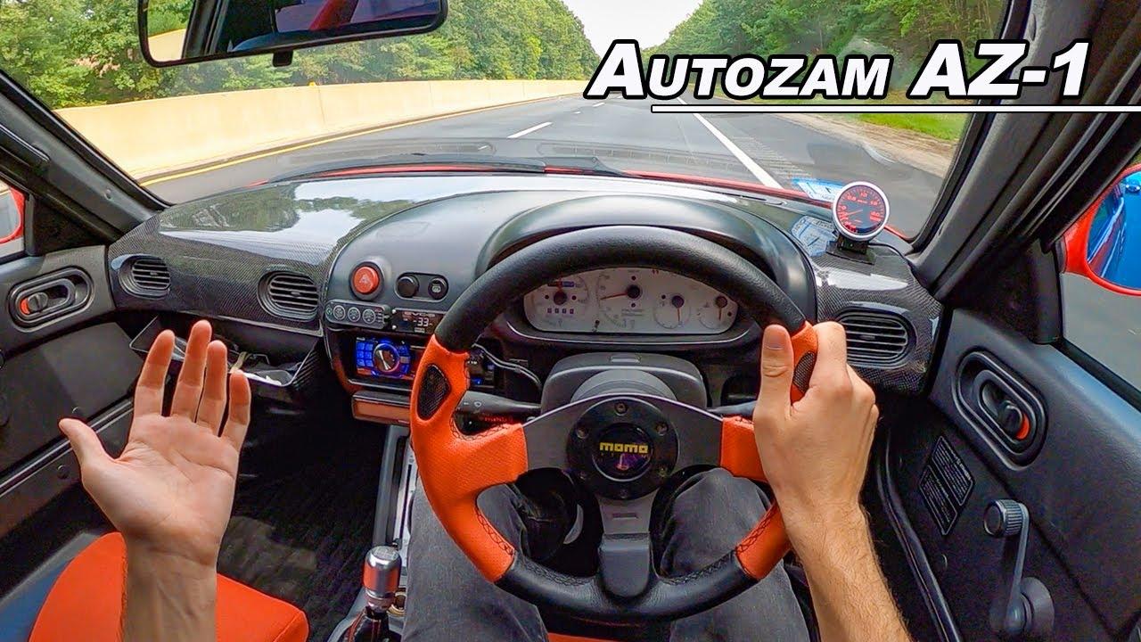 1992 Autozam AZ-1 - 9K RPM Gull Wing Kei Car POV Drive  (Binaural Audio)