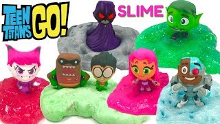 Fizzy & Phoebe Make Teen Titans GO Slime and Opening Mystery Minis