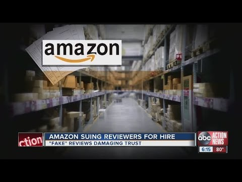 Amazon suing users who post fake reviews for products in exchange for payment