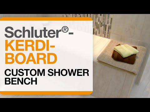 Schluter®-KERDI-BOARD Custom Shower Bench