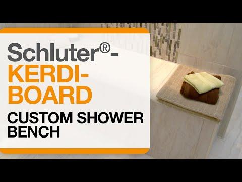 Schluter®-KERDI-BOARD Custom Shower Bench