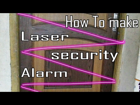✔How to make working model of laser security alarm || laser alarm working model |   physics model