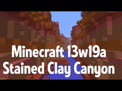 Minecraft Canyon - Stained clay superflat in 13w19a - #yesWeCanyon 2
