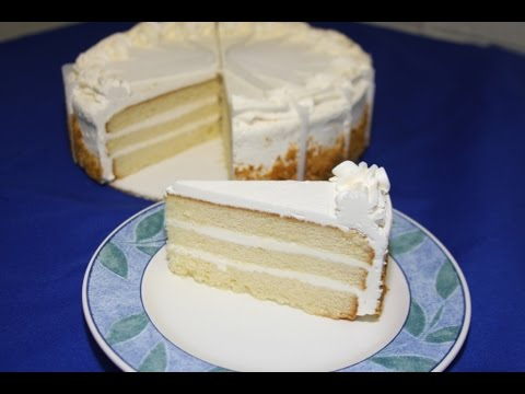 Very Soft Cake and Simple Ingredients with Coat Crearm