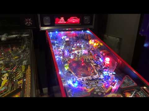 AC/DC pinball with custom lighted Lightning Bolts