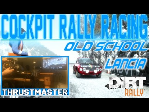 Dirt Rally : Retro Offroad Lancia Cockpit Rally Racing Gameplay w/ Thrustmaster