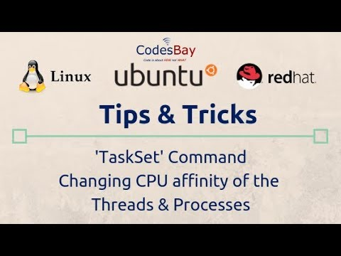 Changing CPU affinity at starting and runtime using Taskset command in Linux
