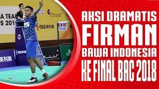 Aksi Dramatis Firman Abdul Kholik bawa Indonesia ke Final Badminton Asia Team Championships 2018