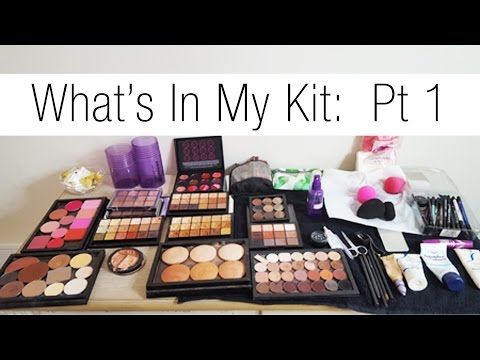 Makeup Artist Series:  Updated What's In My Kit Pt 1 Skincare & Foundations