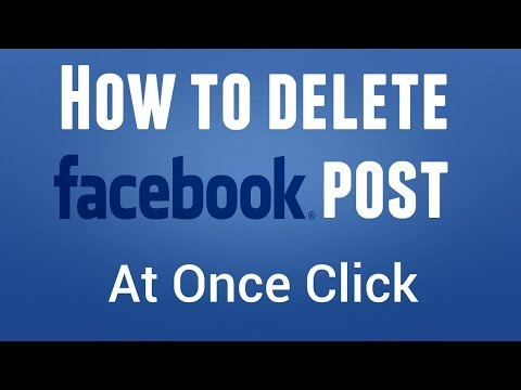 How To Delete Facebook Fan Page/Business Page Post At Once Click
