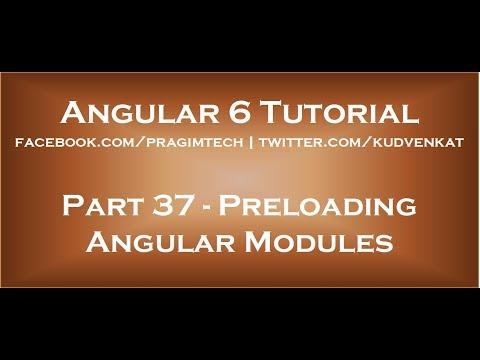 Preloading angular modules
