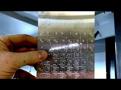 Laser Cutting Stainless Steel Living Hinge Patterns