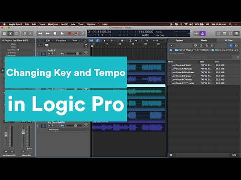 Logic Tutorial - Changing the Key and Tempo