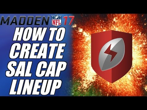 MADDEN 17 TIPS | HOW TO CREATE THE PERFECT SALARY CAP LINEUP!