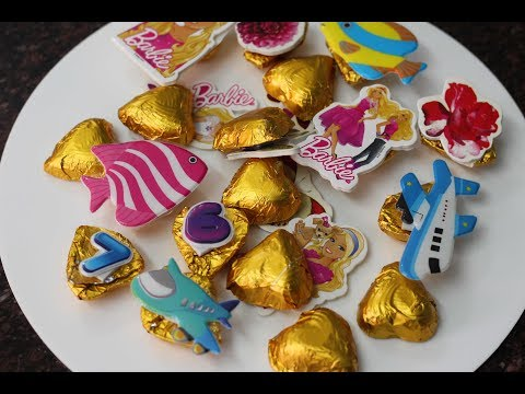 How to make sticker chocolates for B'day parties @home - very easy