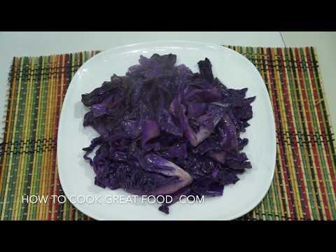 Braised Red Cabbage with Cumin Recipe - Vegan