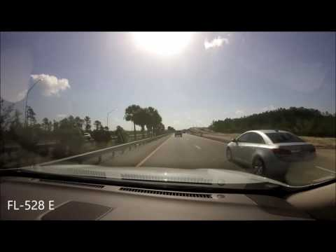 Timelapse Drive Orlando, FL to Port Canaveral, FL (2017) (HD)