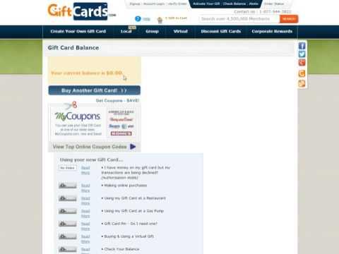 Checking Gift Card Balance