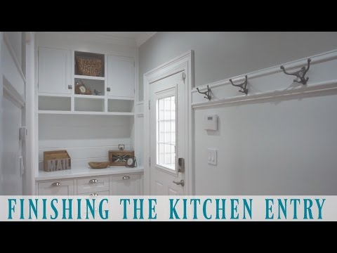 Finishing the Kitchen Entry with Crown Moulding