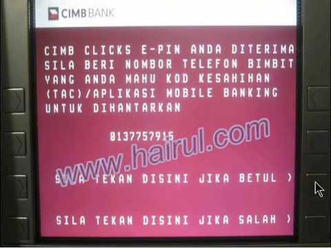 Cara mendaftar CIMB & Maybank2u Online Banking