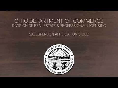 Real Estate & Professional Licensing - Salesperson Applicant Video