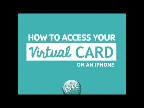 How to access your virtual ISIC on an iPhone (45 seconds)