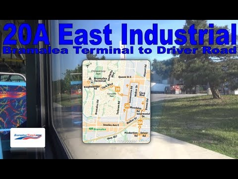 20A East Industrial - Brampton Transit 2005 Nova Bus LFS 0605 (Bramalea Terminal to Driver Road)