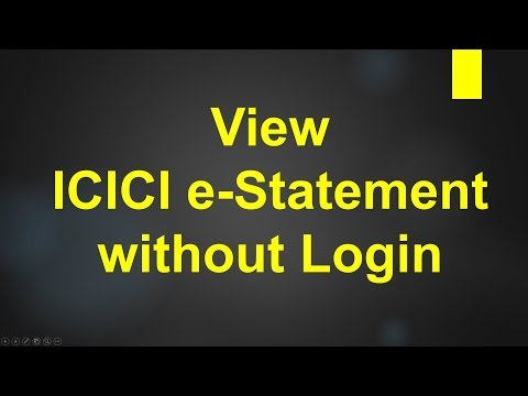 ICICI Bank View e-statement without login