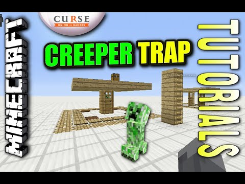 Minecraft PS4 - EPIC CREEPER TRAP - How To - Tutorial ( PS3 / XBOX )