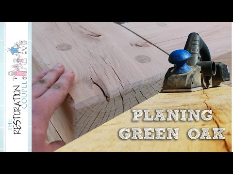 Planing, Sanding and Routing the Oak Sleepers | TRC Garden